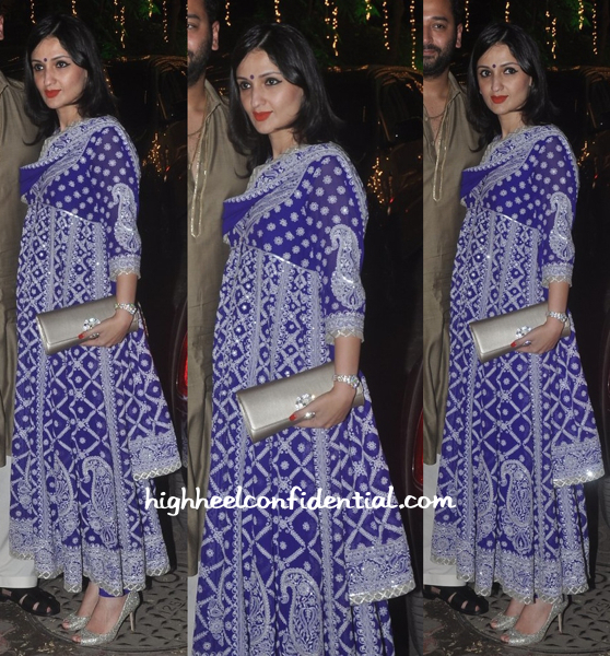 Anu Dewan In Abu Jani Sandeep Khosla At Shilpa Shetty's Diwali Bash