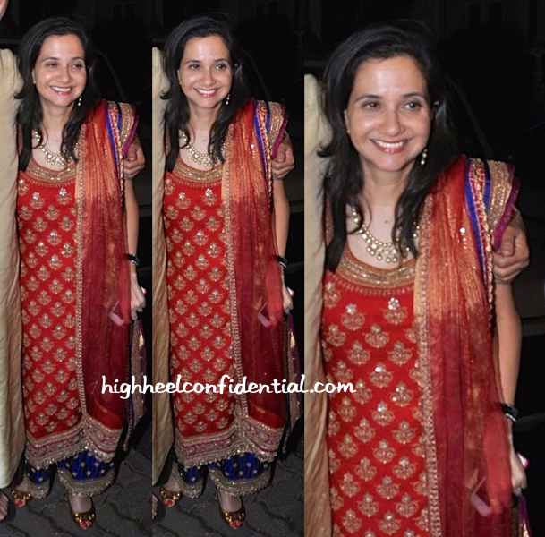 Anupama Chopra In Anuradha Vakil At Bachchans' Diwali Bash