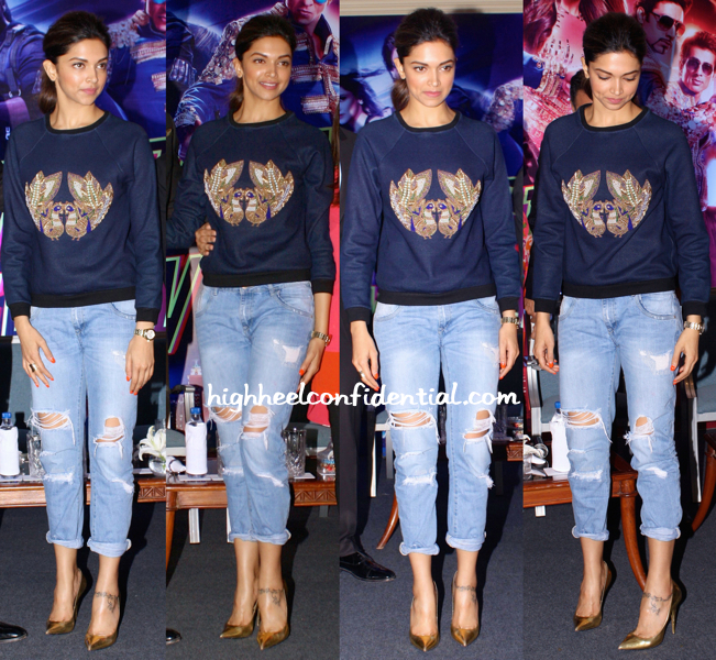 Deepika Padukone In Hemant And Nandita At A Press Meet For 'Happy New Year'-2