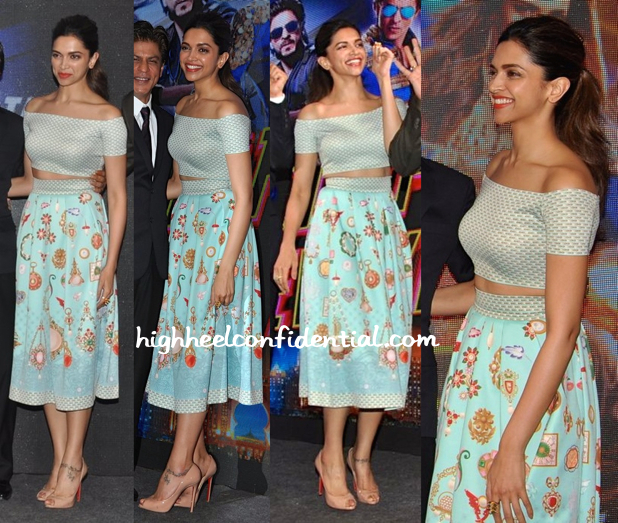 Deepika Padukone In Pankaj And Nidhi At 'Happy New Year' Song Launch-1