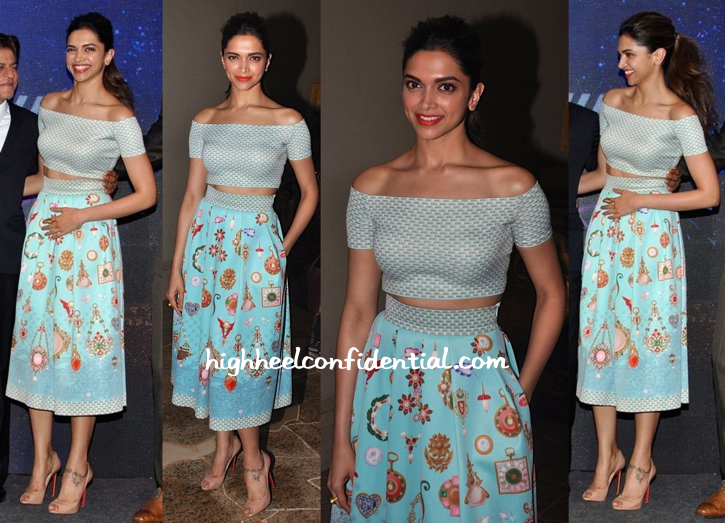 Deepika Padukone In Pankaj And Nidhi At 'Happy New Year' Song Launch