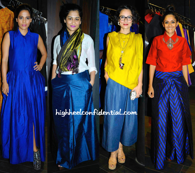 Gauri Shinde, Priyanka Bose And Adhuna Akhtar At Payal Khandwala's Store Launch