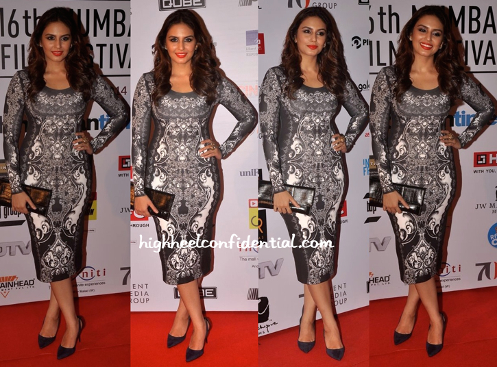 Huma Qureshi In Pankaj And Nidhi At Mumbai Film Festival 2014-1