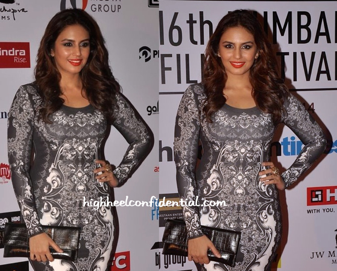Huma Qureshi In Pankaj And Nidhi At Mumbai Film Festival 2014-2