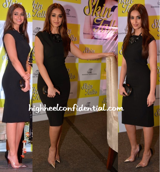 Ileana D'Cruz In Zara At 'Skin Talks' Book Launch-2