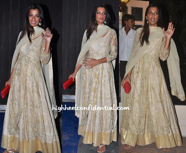 Mugdha Godse In Neeta Lulla At Ekta Kapoor's Diwali Bash