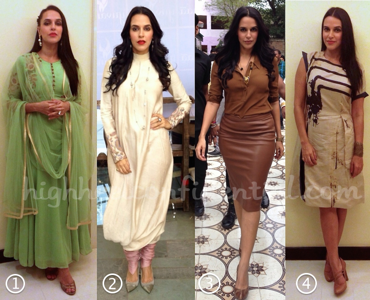Neha Dhupia Wears Zara, Lecoanet Hemant, Shantanu And Nikhil, Bhumika Sharma And Sneha Arora To Ekkees Toppon Ki Salaami Promotions-1