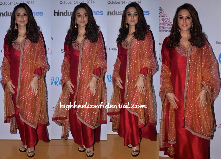 Preity Zinta In Sabyasachi At Mumbai Film Festival 2014-1