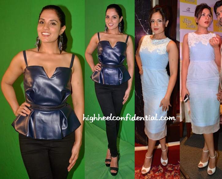 Richa Chadha In Frou Frou By Archana Rao At A Book Launch And In At 'Tamanchey' Press Meet