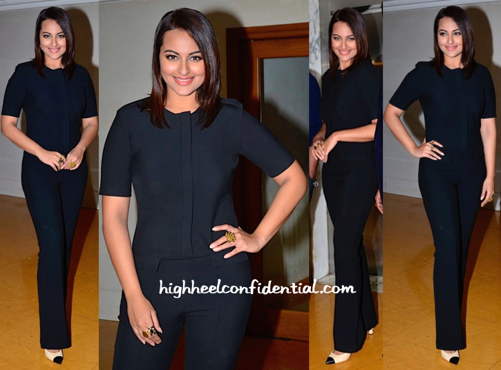 Sonakshi Sinha Wears Zara To 'Action Jackson' Promotions