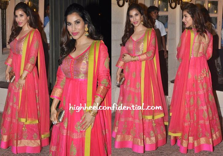 Sophie Choudry At Ekta Kapoor's Diwali Bash