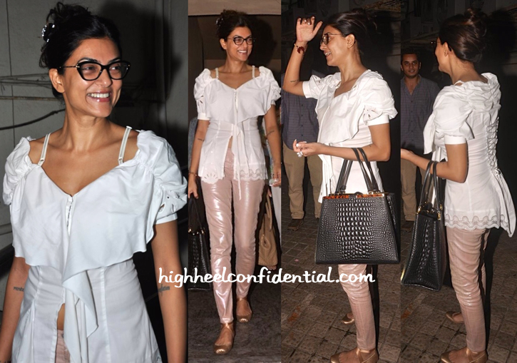Sushmita Sen Totes Fendi To The Movies-2