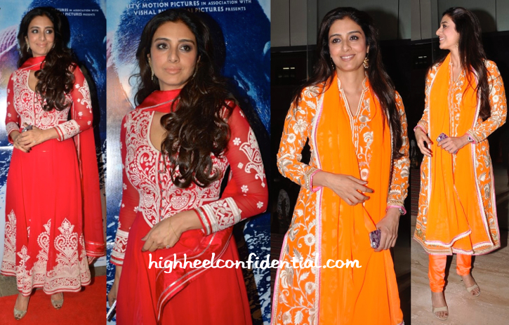 Tabu In Abu Jani Sandeep Khosla At 'Haider' Screening And Book Launch-2