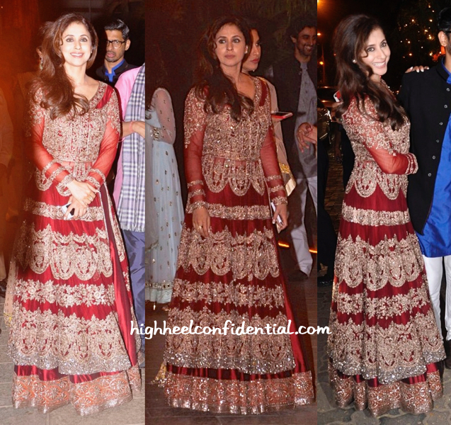 Urmila Matondkar Wears Manish Malhotra To The Bachchans' Diwali Bash