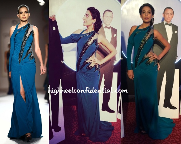 monica-dogra-gaurav-gupta-couture-elle-beauty-awards-2014