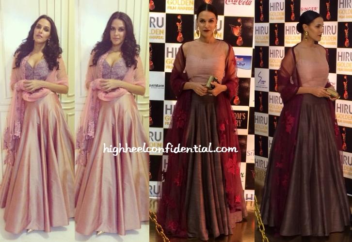 neha-dhupia-manish-malhotra-hiru-film-awards-wedding