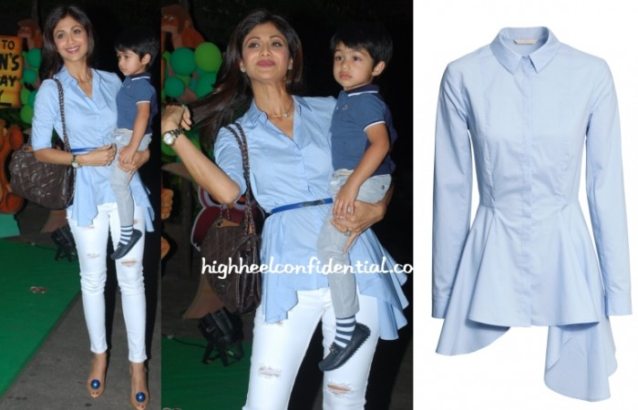 shilpa-shetty-hm-shirt-asymmetric-birthday-bash