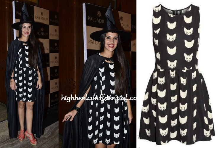 tara-sharma-saluja-halloween-cat-print-dress-hm