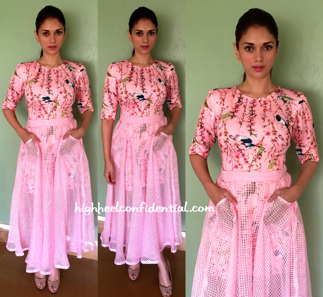 Aditi Rao Hydari Wears Nishka Lulla To A Panel Discussion
