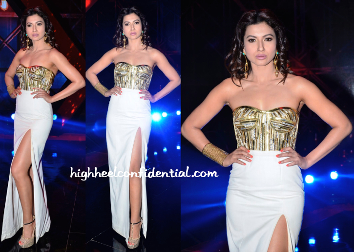 Gauahar Khan In Swapnil Shinde And Outhouse At 'India's Raw Star' Sets
