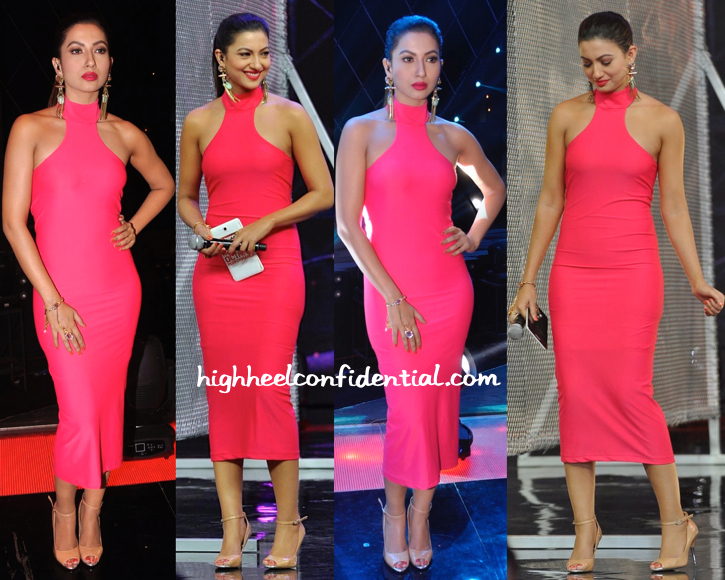 Gauahar Khan Wears Harsh Harsh To India's Raw Star Sets