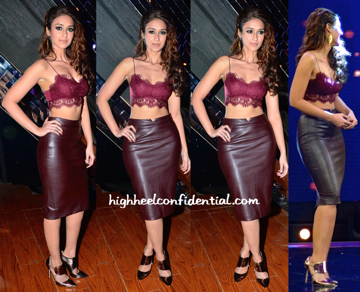 Ileana D'Cruz In Topshop And Zara On 'India's Raw Star' Sets For 'Happy Ending' Promotions