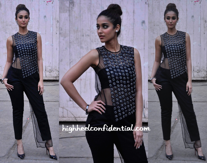 Ileana D'Cruz Wears Rohit Gandhi + Rahul Khanna To 'Happy Ending' Promotions:Interviews-1