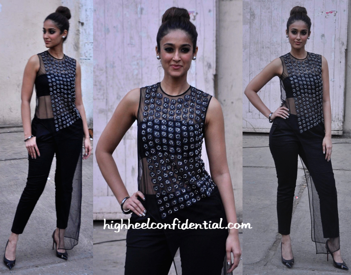 Ileana D'Cruz Wears Rohit Gandhi + Rahul Khanna To 'Happy Ending' Promotions:Interviews-2