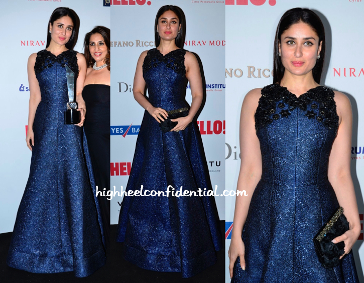 Kareena Kapoor In Andrew GN At Hello! Hall Of Fame 2014 Awards-2
