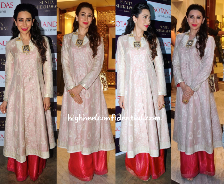 Karisma Kapoor At Notandas Jewellers New Collection Launch-2