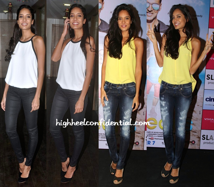 Lisa Haydon At Press Meet:Promotions For 'The Shaukeens'