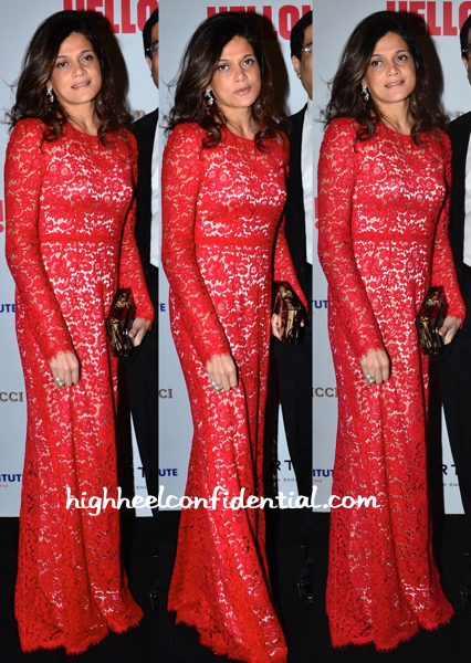 Neerja Birla Wears Dolce & Gabbana To Hello! Hall Of Fame Awards 2014