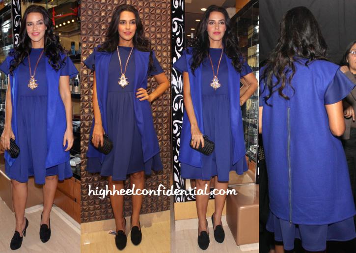 Neha Dhupia At Guneet Virdi- Bespoke Beauty & Makeup Studio Launch In Delhi-2