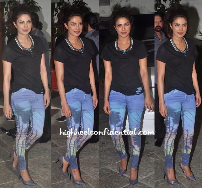 Priyanka Chopra At Sonali Bendre Goldie Behl Anniversary Party