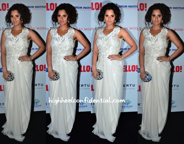 Sania Mirza In Vizyon At Hello! Hall Of Fame Awards 2014-1