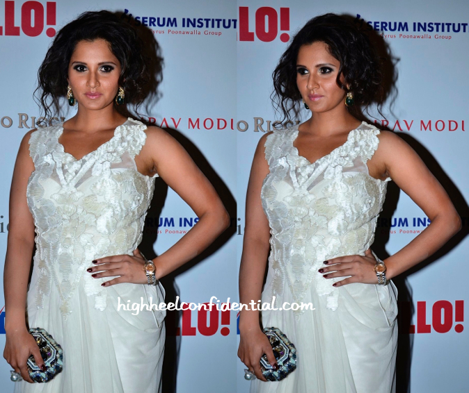 Sania Mirza In Vizyon At Hello! Hall Of Fame Awards 2014-2