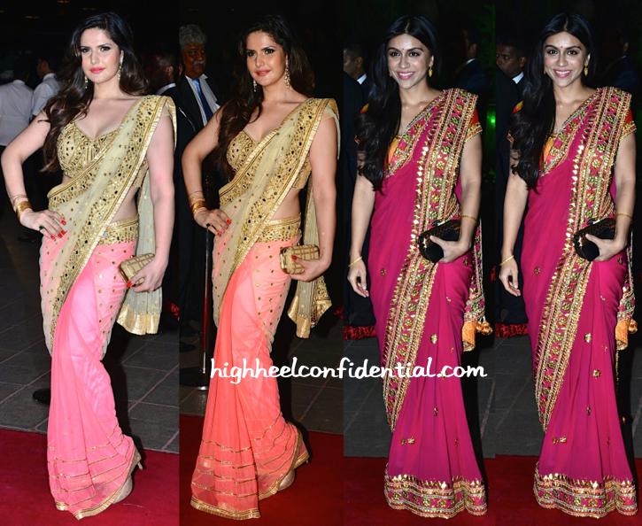 Zoa Morani And Zarine Khan At Aayush Sharma-Arpita Khan Wedding Reception