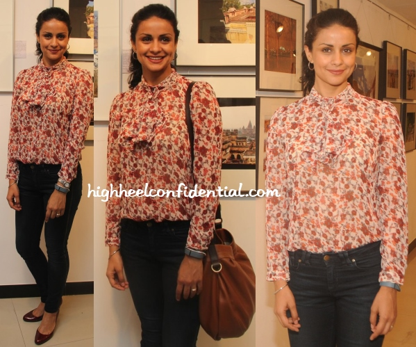 gul-panag-zara-floral-shirt-nisheet-bhatt-exhibition