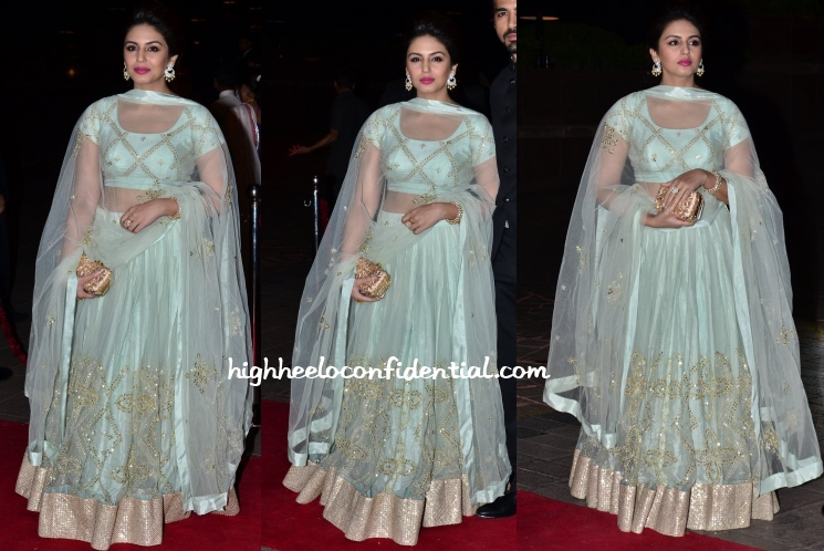 huma-qureshi-Prathyusha-Garimella-arpita-aayush-wedding-reception