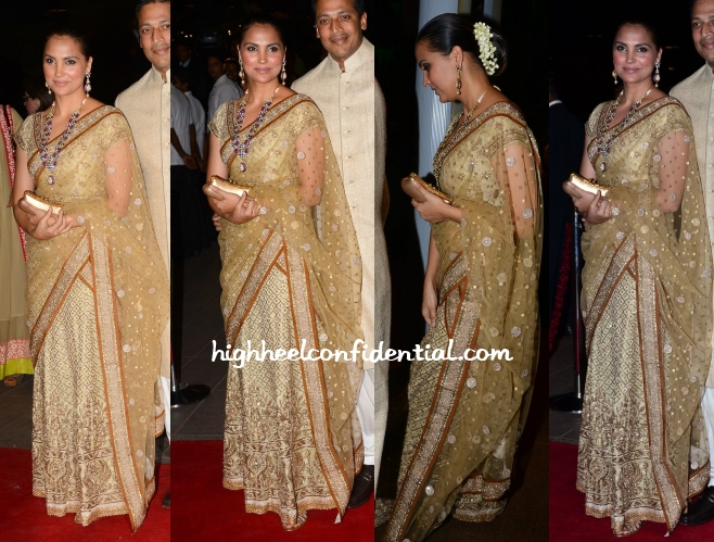 lara-dutta-ritu-kumar-arpita-aayush-wedding-reception