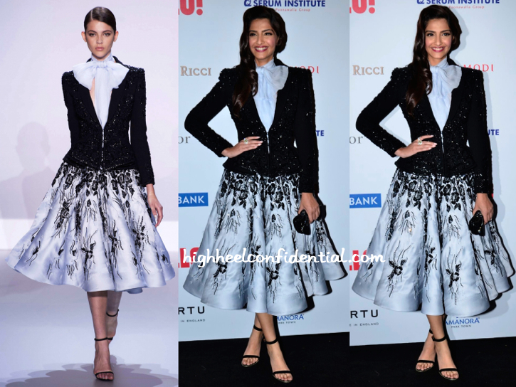 sonam kapoor-Ralph & Russo-hello hall of fame awards 2014