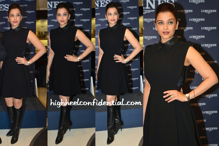Aishwarya Rai Bachchan In Gucci Fall 2014 At Longines Press Meet-2