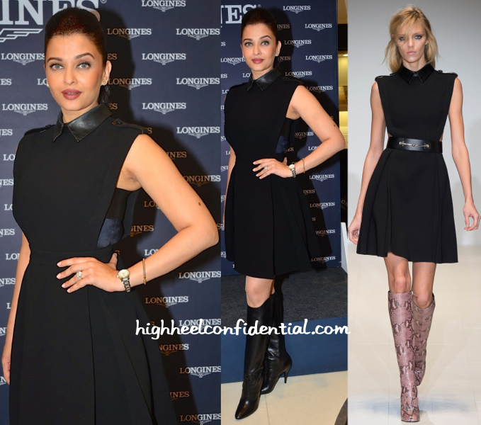 Aishwarya Rai Bachchan In Gucci Fall 2014 At Longines Press Meet