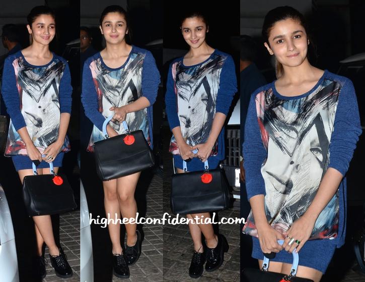 Alia Bhatt Totes Dior To PK Screening