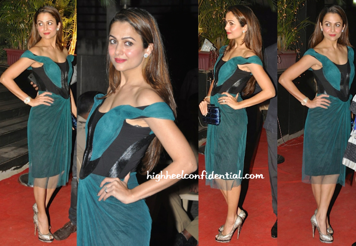Amrita Arora In Amit Aggarwal At Vikram Phadnis' Store Launch