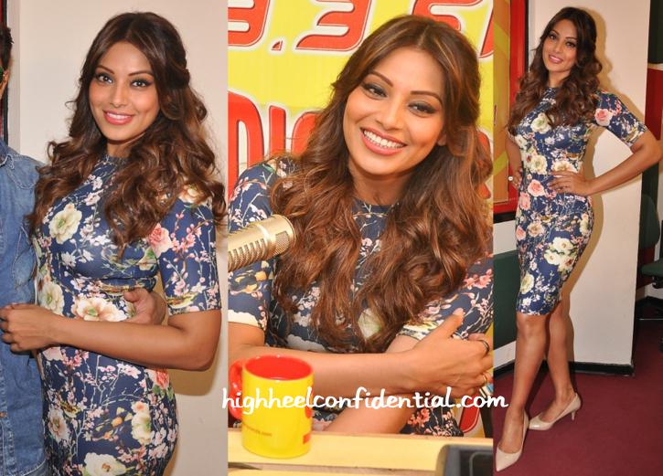 Bipasha Basu Promotes Alone At A Radio Station Wearing Nishka Lulla