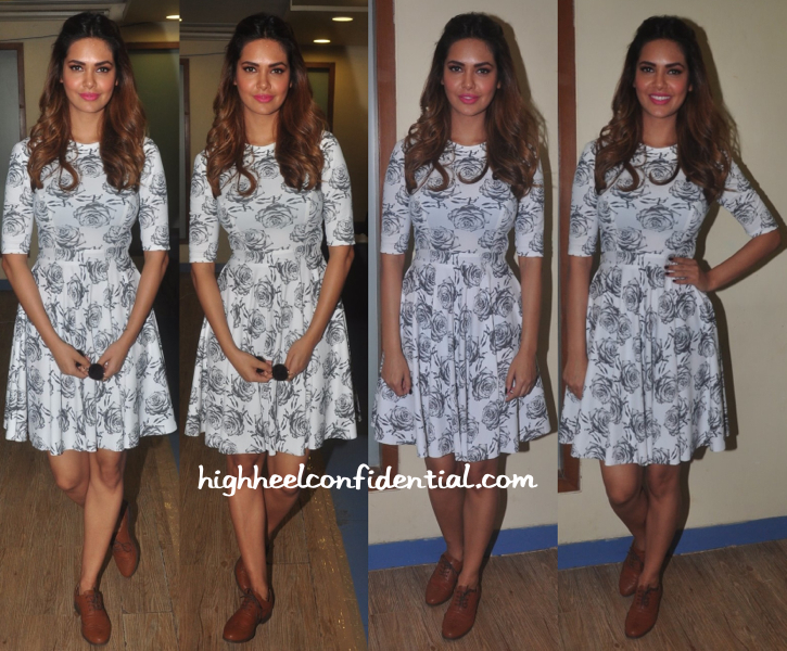 Esha Gupta Wears Masaba To NYE 2014-15 Press Meet-1