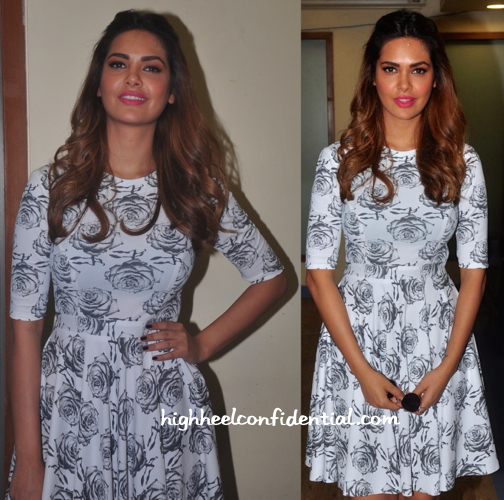 Esha Gupta Wears Masaba To NYE 2014-15 Press Meet-2