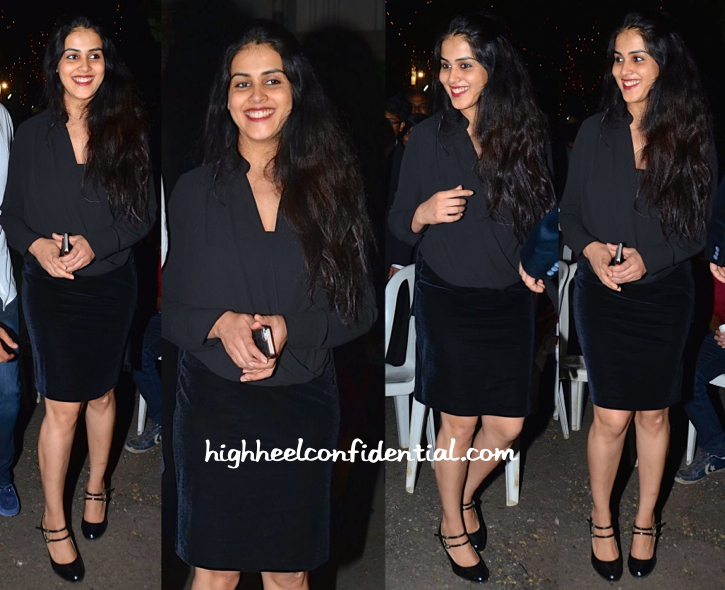 Genelia D'Souza At Kareena Kapoor At Christmas Eve Mass