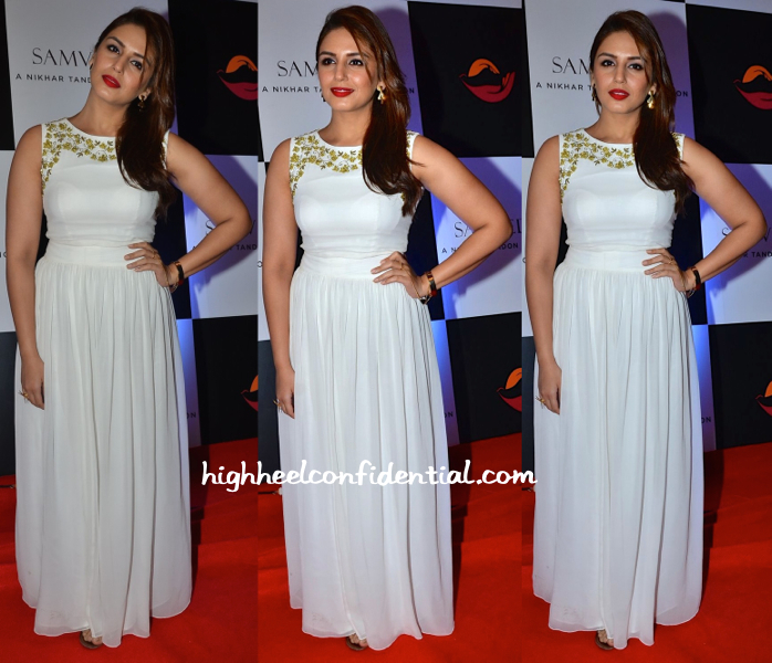 Huma Qureshi In Vineti Bolaki At Samvedna Charity Auction